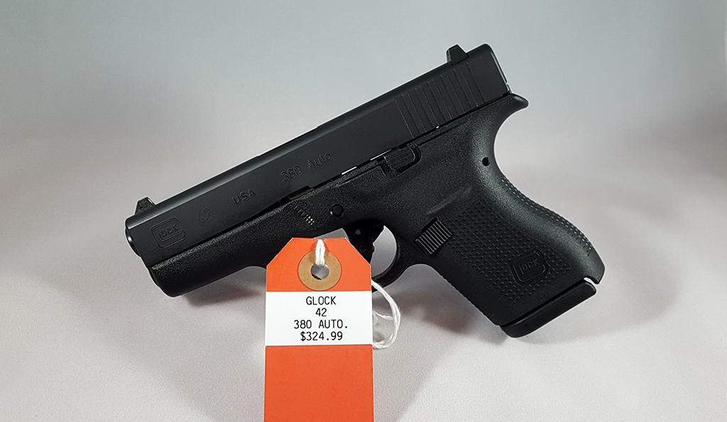 Glock 42 380auto $324.99