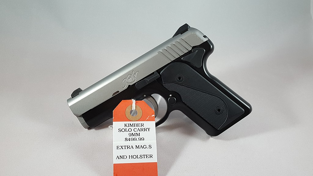 Kimber Solo Carry 9mm with Extra Mags & Holster $499.99