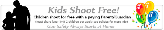 kids shoot free at Shady Oaks Gun Range!